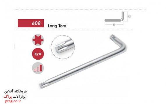 آچارآلن سرخورشیدی توپر با طول بلند کد608